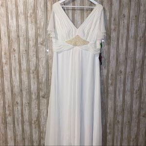 JS Boutique Plus Size White Sequined Dress